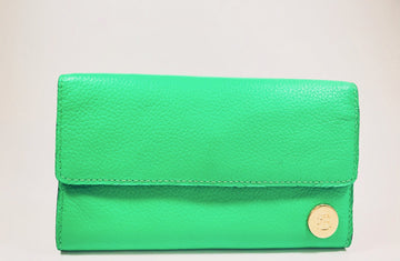 Mint handcrafted leather big wallet