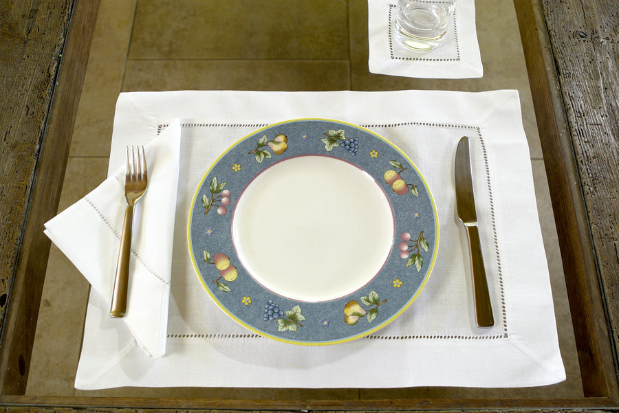 LINEN PLACEMATS WHITE