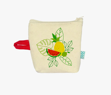 HAND PAINTED FLOWER COIN BAG