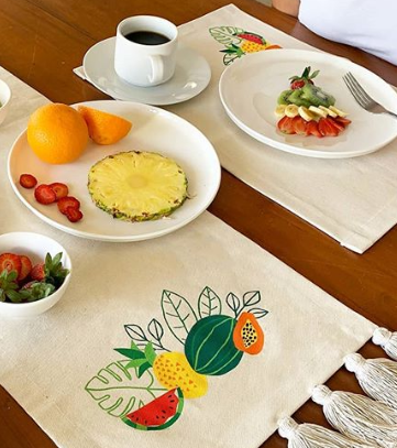 TROPICAL FRUIT PLACEMAT
