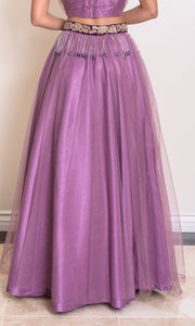 women's purple lehenga choli net skirt