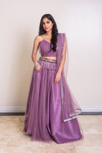 women's purple modern lehenga choli dupatta