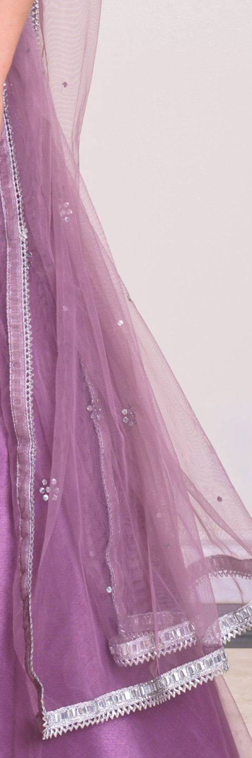 women's purple lehenga choli dupatta