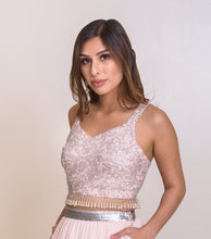 Blush pink lengha blouse