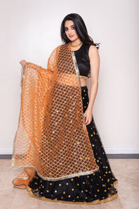 Monarch Orange Gota Dupatta