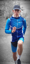 Collant Court Running Homme Bleu [Made In France]