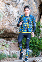 Collant Running Homme Jaune Bleu [Made in France]