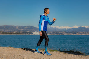 Collant Running Homme Bleu [Made In France]