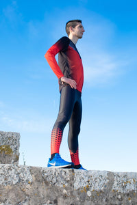 Collant Running Homme Rouge [Made In France]