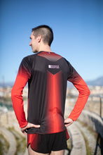 Manche Longue Running Homme Rouge [Made In France]