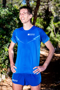 Manches Courtes Running Homme Bleu [Made in France]