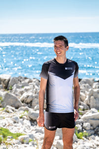 Manches Courtes Running Homme Noir [Made in France]