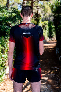 Manches Courtes Running Homme Rouge [Made in France]