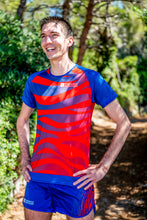Manches Courtes Running Homme Rouge Bleu [Made in France]