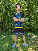 Short Running Homme Jaune Bleu [Made in France]