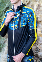 Veste Running Homme Jaune Bleue [Made in France]