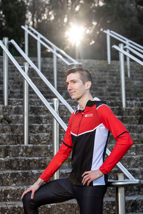 Veste Running Homme Rouge [Made In France]