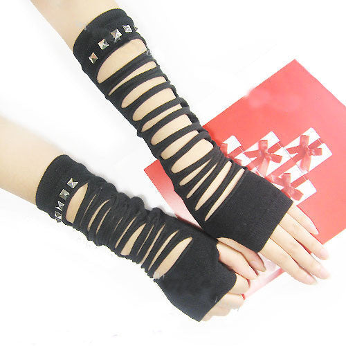 Black Sexy Gothic long gloves