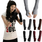 Long half finger cuff gloves