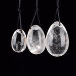 100% Natural Quartz Crystal 3pcs Jade Eggs