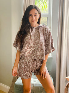Grace Cheetah Drawstring Shorts