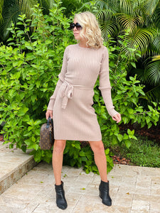 Janie Cable Sweater Dress