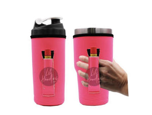Neon Pink 30oz Handler fits Blender Bottles and YETI with Pocket - Rebel Threads Boutique