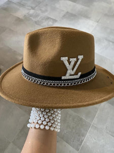 Amor LV Fedora Hat - Brown
