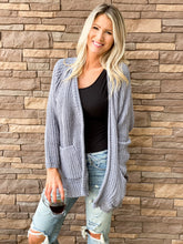 Chenille Pocketed Cardigan- 3 Colors