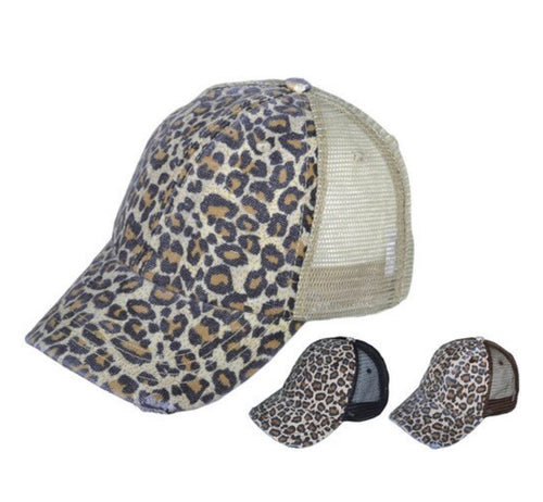 Vintage Leopard Trucker Hat - 2 Colors