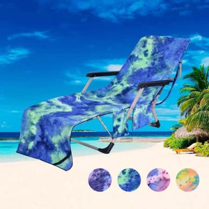 Tie Dye Lounge Chair Towel - 4 Colors