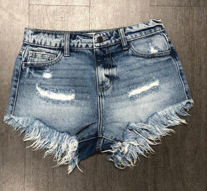 Piper High Rise Frayed Shorts