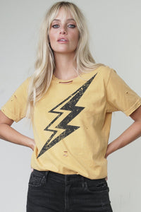 Big Lighting Bolt Distressed Tee