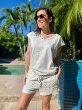 Studded French Terry Pocketed Shorts