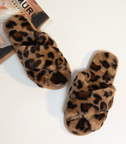 Criss Cross Fluffy Slippers- 3 Colors