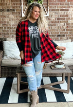 Buffalo Plaid Thumbhole Cardigan
