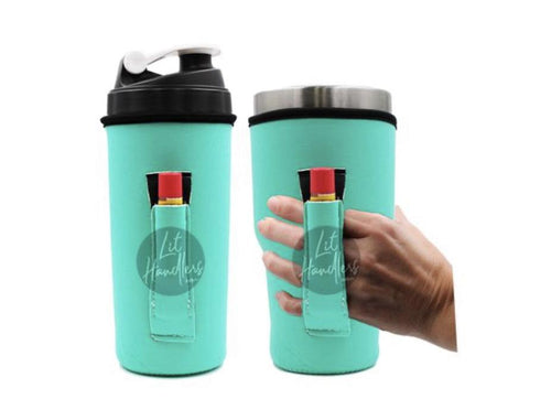 Sea Foam Green 30oz Handler fits Blender Bottles & YETI with Pocket - Rebel Threads Boutique
