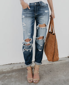 Rebel Boyfriend Denim - Rebel Threads Boutique