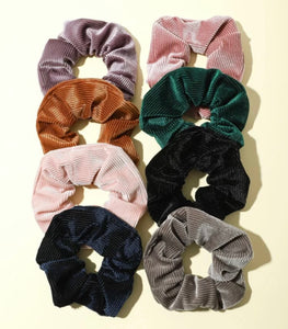8pc Corduroy Scrunchie Set