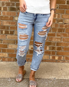 Britney High Rise Boyfriend Denim - Rebel Threads Boutique