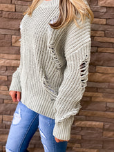 Destroyed Chenille Basic Sweater - 2 Colors
