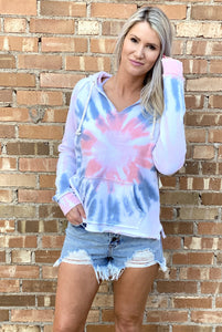 Flamingo Tie Dye Pullover Hoodie - Rebel Threads Boutique