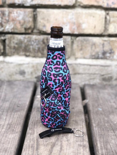 Blue Leopard Bottleneck Handler - Rebel Threads Boutique