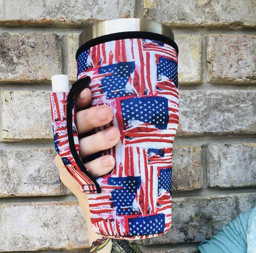 Old Glory 30oz Handler fits Blender Bottles & YETI - Rebel Threads Boutique