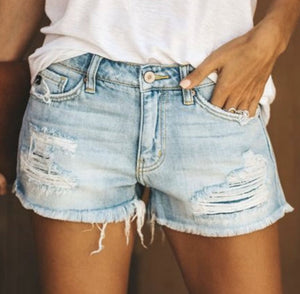 Vintage Distressed Shorts- Light - Rebel Threads Boutique