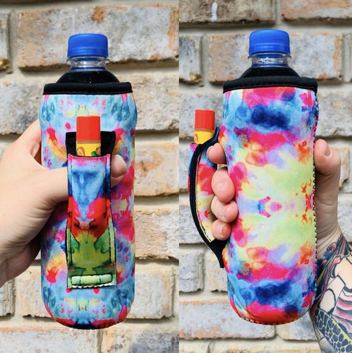 Tie Dye Water Bottle/ Tall Boy Handler - Rebel Threads Boutique
