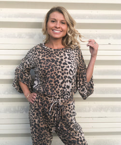 Avery Leopard Brushed Knit Top