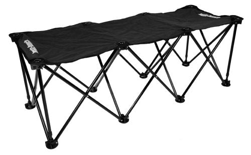 Insta-Bench Classic 3-Seater Bench, Unisex-Adult, IBC3Bk, Black, One Size