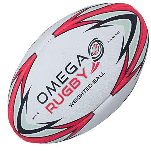 Omega Rugby Weighted Ball - Pass Developer - Rugby Gear Online