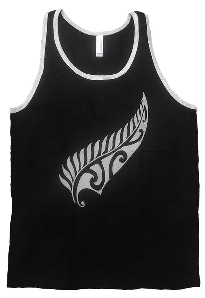 New Zealand Maori Fern Tank Top (XL) - Rugby Gear Online